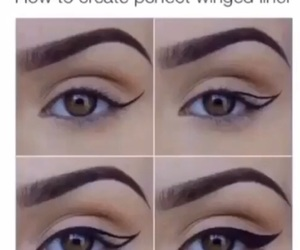 beauty, eye, and eyeliner image