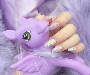 unicorn, purple, and nails image
