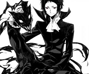 bungou stray dogs, anime, and akutagawa ryuunosuke image