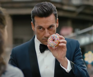 don draper, donut, and handsome image