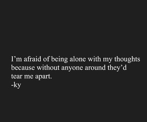 afraid, alone, and black and white image