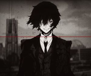 bungou stray dogs, anime, and dazai image