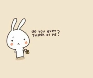 cute, bunny, and love image