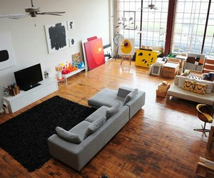 room, loft, and home image