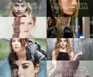 divergent, books, and hunger games image