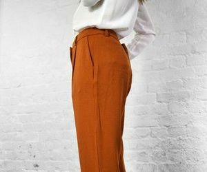 fashion, orange, and pants image