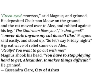 book, shadowhunter, and alec lightwood image