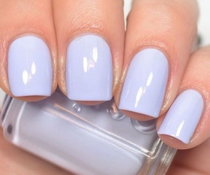 nail polish, periwinkle, and snow image