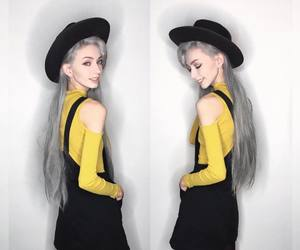 fashion, grunge, and silver hair image