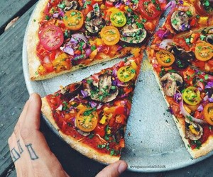 pizza, food, and vegan image