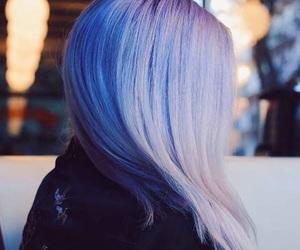 beautiful, hair, and lilac image