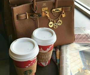 bag, classy, and coffee image