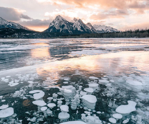 ice, lake, and clouds image