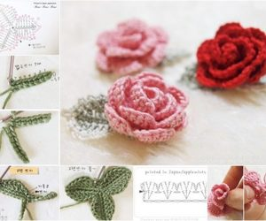 crochet flower and crochet spring projects image