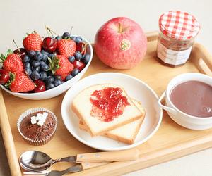 food, breakfast, and apple image