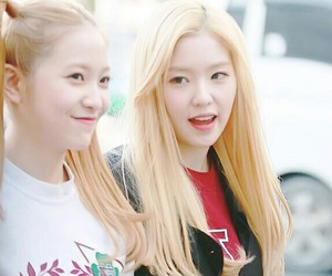 blonde hair, red velvet, and irene image