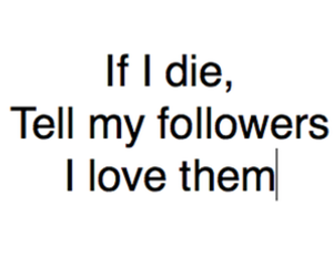 followers, love, and die image