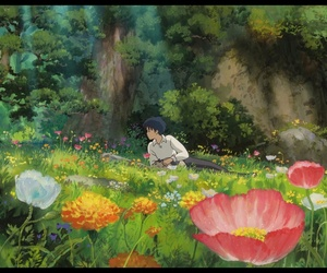 anime, flowers, and japan image