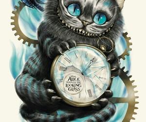 disney, alice in wonderland, and cat image
