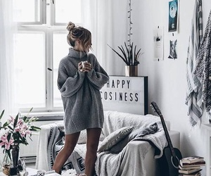 girl, home, and style image