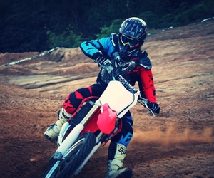 motocross, rider, and dirtbike image