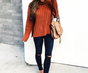 fall, jeans, and fashion image
