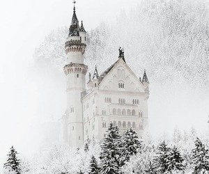winter, snow, and castle image