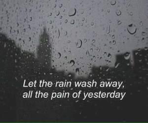 dark, rain, and sad image