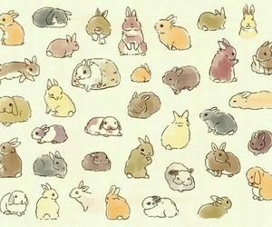 bunny, rabbit, and art image