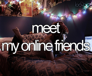 friends, meet, and online image