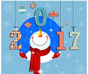 happy new year, 2017, and new year image