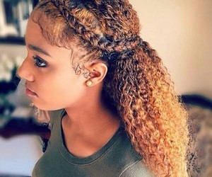 curly hair, team natural, and goals on fleek image