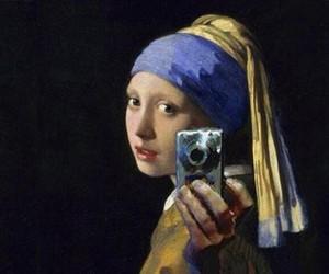 art, painting, and vermeer image