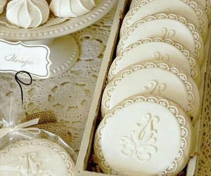 Cookies, white, and sweet image