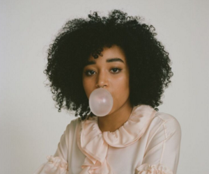 bubble gum, afro hair, and amandla stenberg image