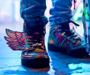 shoes, wings, and adidas image