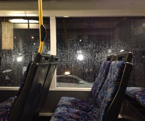bus, grunge, and rain image