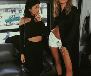 kylie jenner, hailey baldwin, and kyliejenner image