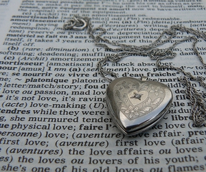 amour, dictionary, and locket image