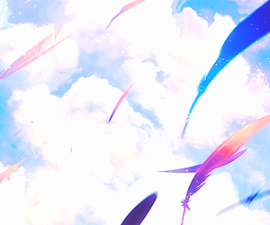 feather, :3, and feathers image
