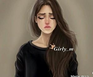drawing, girly_m, and sad image