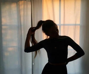 girl, tumblr, and shadow image