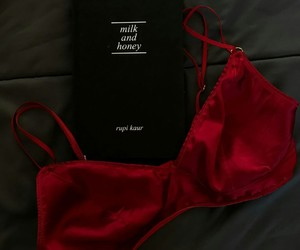 red, aesthetic, and bra image
