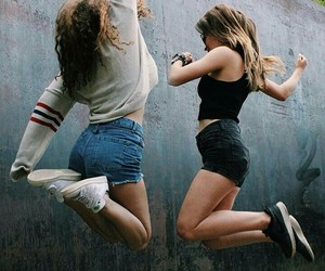 friends, bff, and jump image