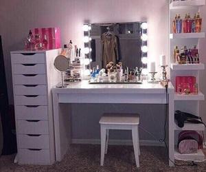 room, makeup, and light image