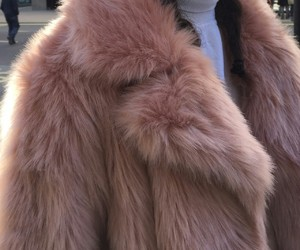 fashion, pink, and fur image
