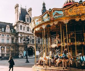 travel, beautiful, and carousel image
