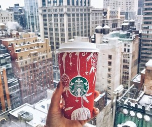 fashion, starbucks, and winter image