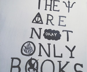 books, harry potter, and the hunger games image