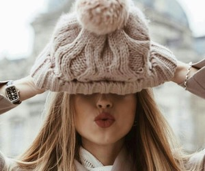 girl, winter, and style image